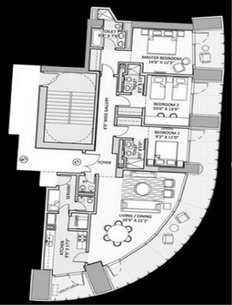 Lodha World Crest, Mumbai - Floor Plan