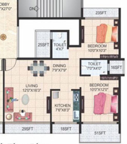 Sachin Skyline Seaview, NaviMumbai - Floor Plan