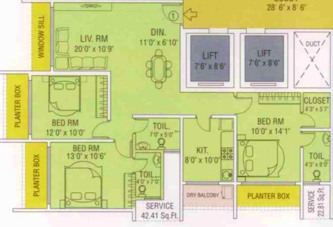 Maredian Heights, Mumbai - Floor Plan