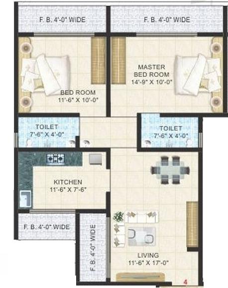Krishna Space Krishna Vihar, Thane - Floor Plan