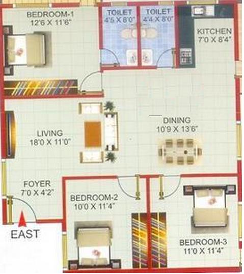 Suvrith Soprano, Bangalore - Floor Plan