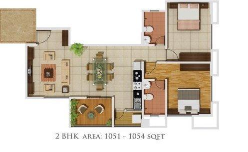 Gera Parkview I, Pune - Floor Plan