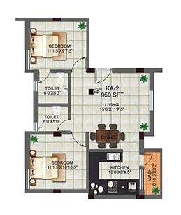 Kosalram Adonia, Chennai - Floor Plan