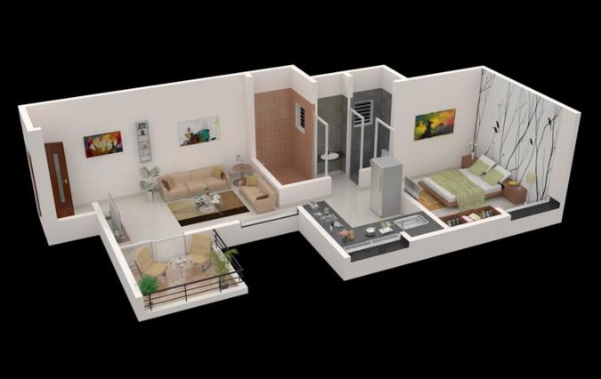 Satyam Oak Vista, Pune - Floor Plan