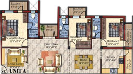 Wisdom Kahf Enclave, Chennai - Floor Plan