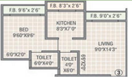 SR Surya Kirti Heights, Mumbai - Floor Plan