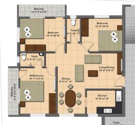 Athreya Samvrita, Chennai - Floor Plan