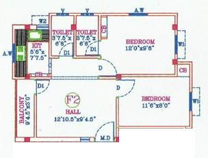 DSR Nehaa Sree Flats, Chennai - Floor Plan