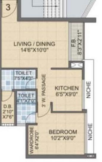Laxmi Avenue D Global City Ph-1, Mumbai - Floor Plan