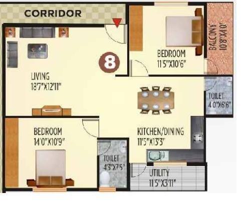 Siddartha Sapphire, Bangalore - Floor Plan