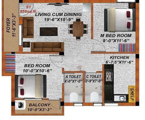 Shree Rama Jayam, Chennai - Floor Plan