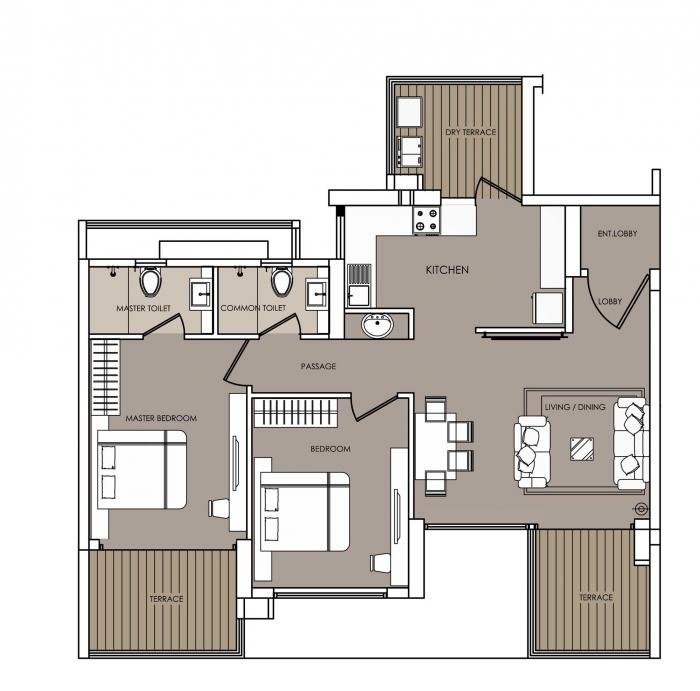 Nahar F Residences, Pune - Floor Plan