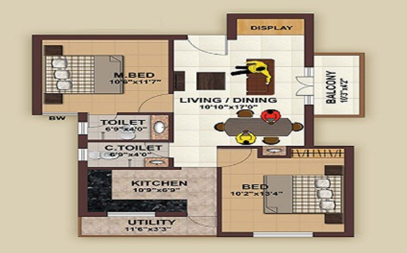 Evocon Eden Gardens Phase II, Chennai - Floor Plan