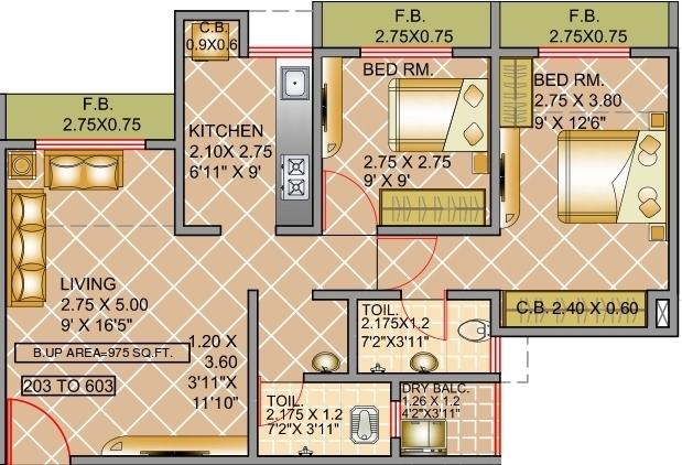 Virat Green Avenue, Thane - Floor Plan