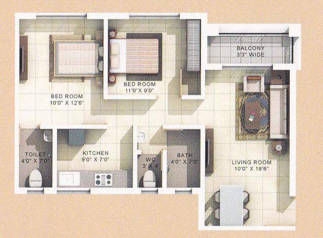 Roop Rajat Park Phase 1, Thane - Floor Plan