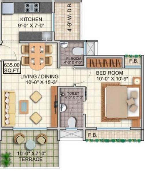 Dheeraj Jade Residences, Pune - Floor Plan