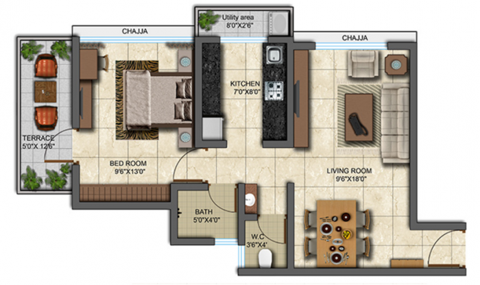 Shamik Ashtavinayak Phase 1, Thane - Floor Plan