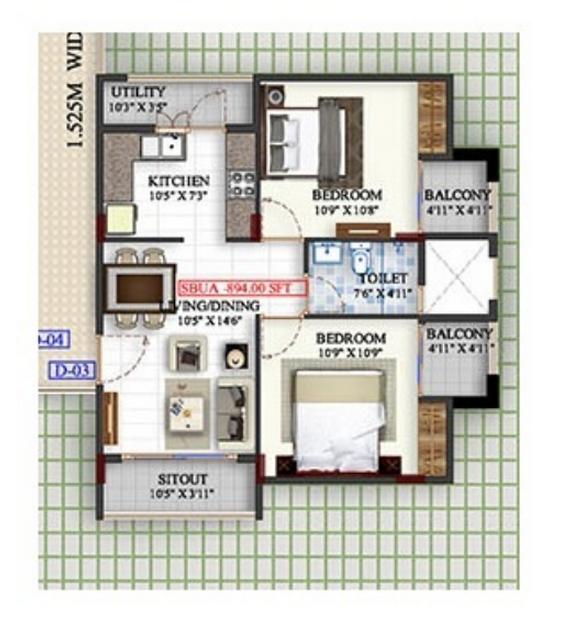 Mahaveer Meridian, Bangalore - Floor Plan