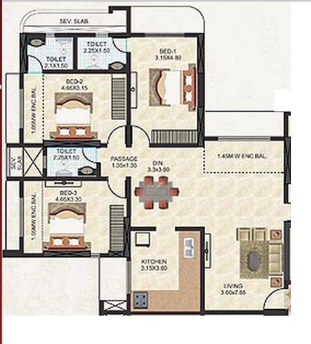 Thakur Jewel Tower, Mumbai - Floor Plan