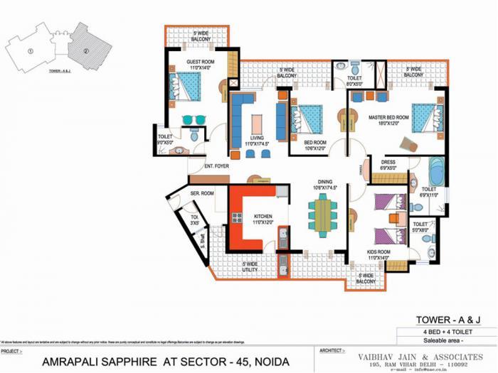 Amrapali Sapphire, Noida - Floor Plan