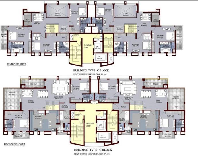 Ansal Sushant Aquapolis, Ghaziabad - Floor Plan