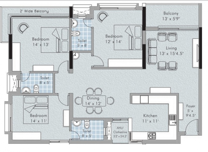 Appaswamy Cerus, Chennai - Floor Plan