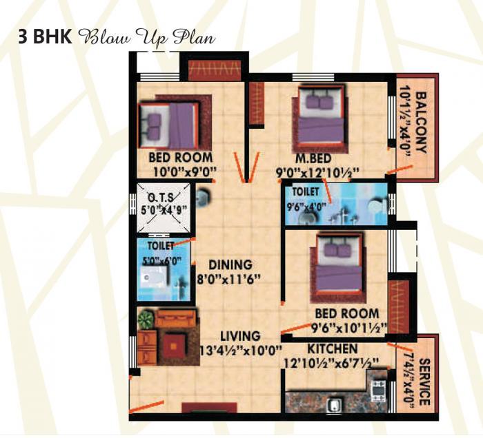 Stepsstone Artithaa, Chennai - Floor Plan