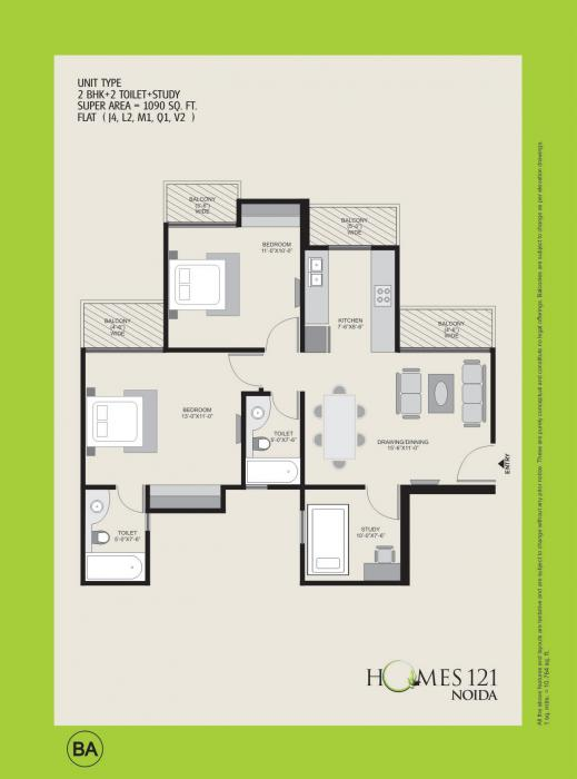 Ajnara Homes 121, Noida - Floor Plan