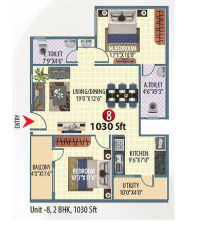 Neeladri Princess, Bangalore - Floor Plan