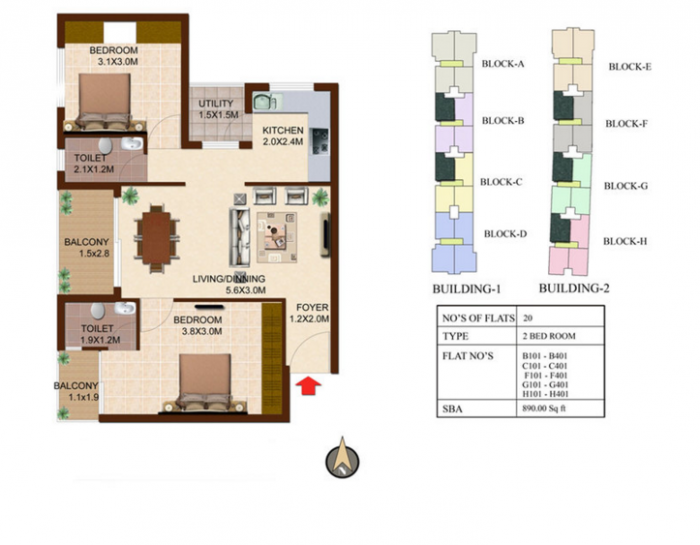 Concorde South Scape, Bangalore - Floor Plan