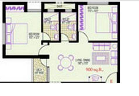 Vijay Shanthi Park Avenue, Chennai - Floor Plan