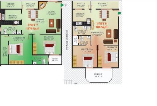 GNS Residency, Bangalore - Floor Plan