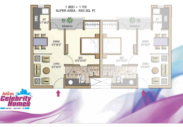 Aditya Celebrity Homes, Noida - Floor Plan