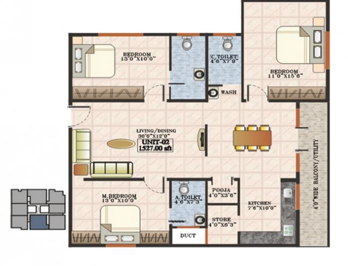 Aditya Mother Palace, Bangalore - Floor Plan