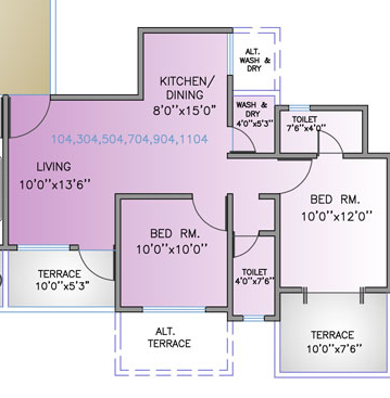 Maruti Central Park Residences, Pune - Floor Plan