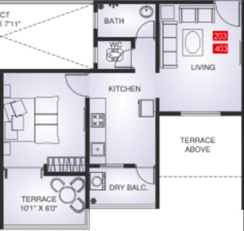 Maple Aapla Ghar Kirkatwadi, Pune - Floor Plan
