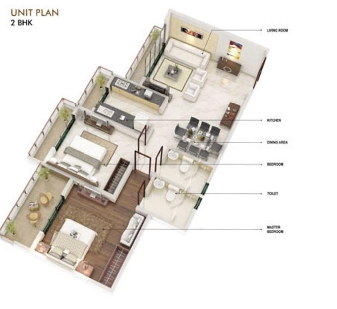 Garnet Mounthill The Pyramid, Mumbai - Floor Plan