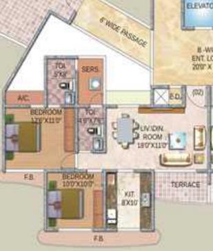 Paradise Sai Enclave, NaviMumbai - Floor Plan