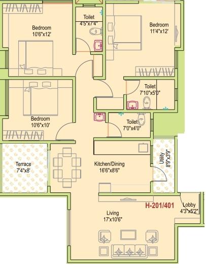 Siddhivinayak Prime Plus Phase II, Pune - Floor Plan