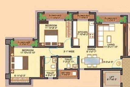 Satguru Florence, Thane - Floor Plan