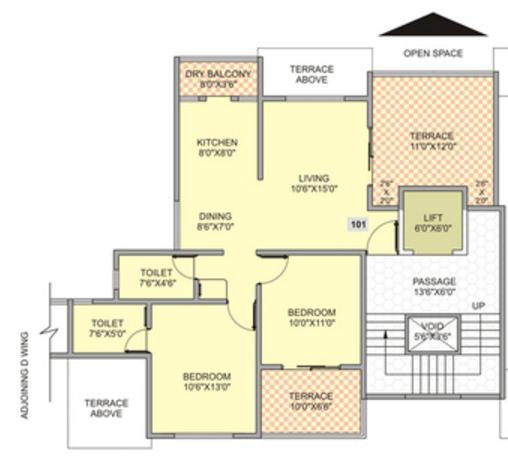 Dwarka Suncrest Phase III, Pune - Floor Plan