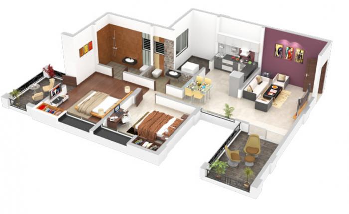 Venkatesh Bhoomi Spring Town Phase II, Pune - Floor Plan