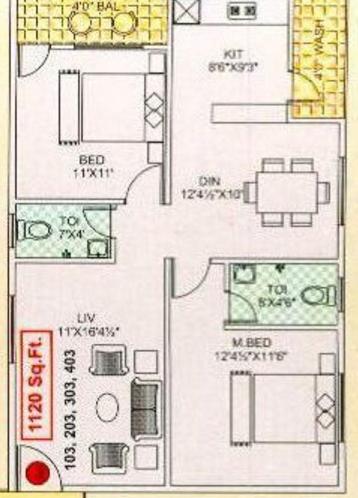Sowmya Sai Sunrise, Bangalore - Floor Plan