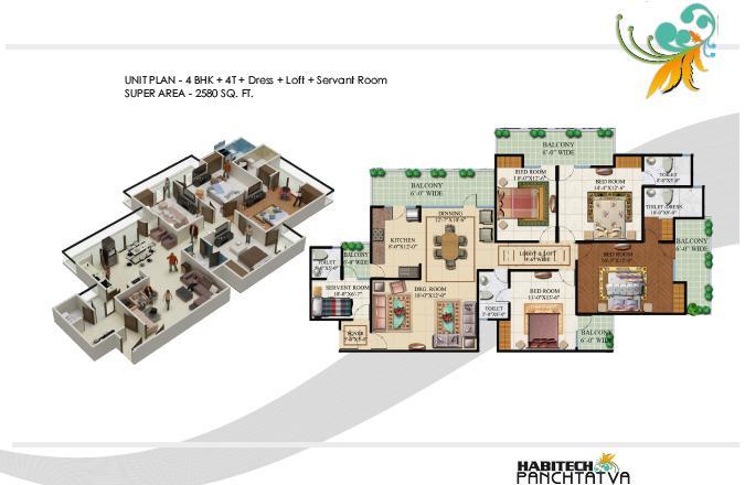 Habitech Panch Tatva, GreaterNoida - Floor Plan