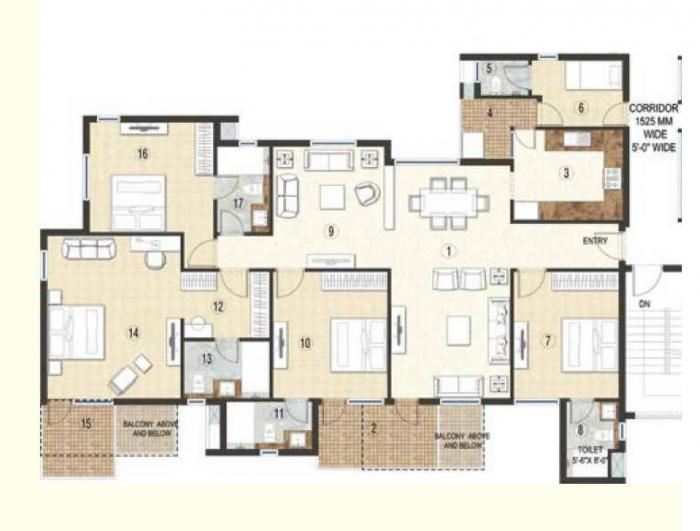 Jaypee Krescent Homes, Noida - Floor Plan