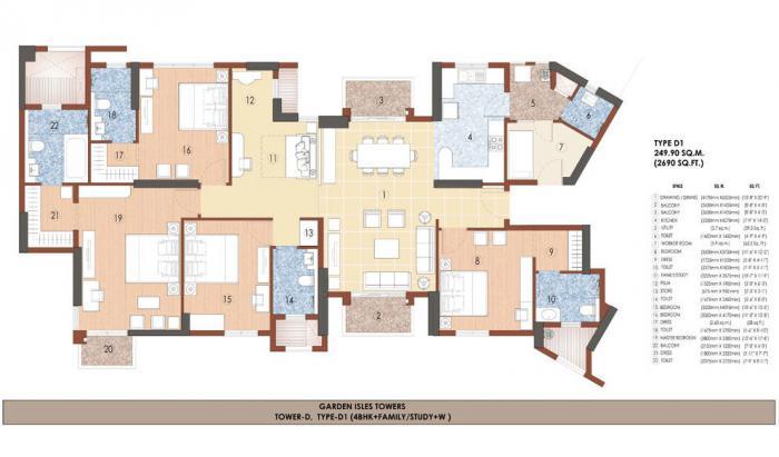 Jaypee Garden Isles, Noida - Floor Plan
