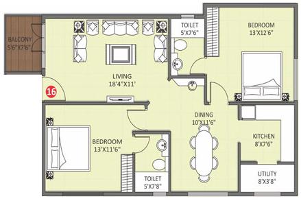 Adithya Desai Orchid, Bangalore - Floor Plan