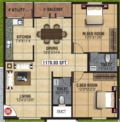 BM Marvel, Bangalore - Floor Plan