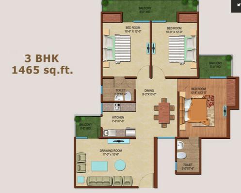 JKG Palm Resort, Ghaziabad - Floor Plan