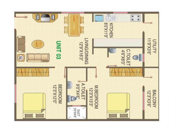 Murari Orchids, Bangalore - Floor Plan